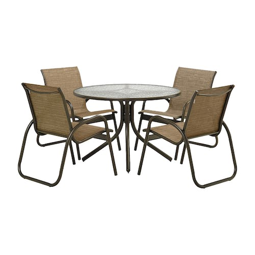 Telescope Casual Furniture Gardenella 5 Piece Chair And Table