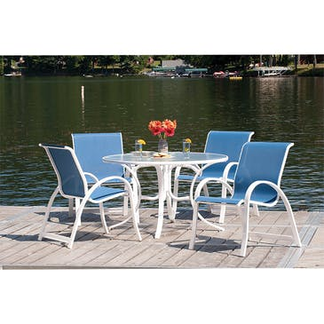 Telescope Casual Furniture Aruba 5 Piece Chair And Table Outdoor
