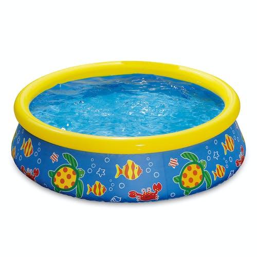 Quick Set 5-Foot Inflatable Kiddie Pool, Ocean