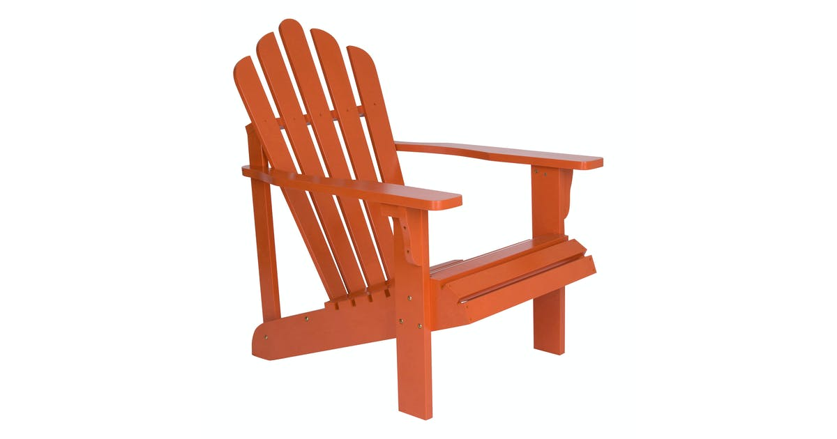 Shine Company Westport Yellow Cedar Wood Adirondack Chair, Rust SHN-4611RU  | Spreetail