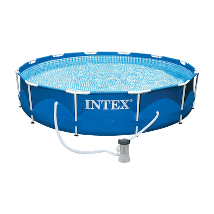 12 x 2.5-Foot Metal Frame Swimming Pool with Pump