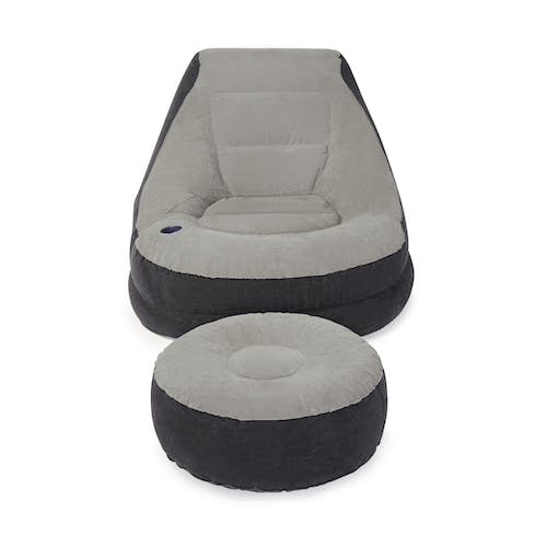 Groovy Intex Inflatable Ultra Lounge Chair And Ottoman Set Gray Onthecornerstone Fun Painted Chair Ideas Images Onthecornerstoneorg