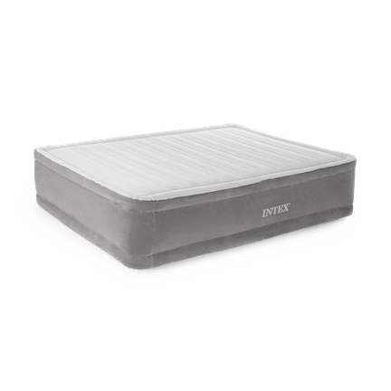 Queen Comfort Plush Elevated Air bed with Built-In Pump