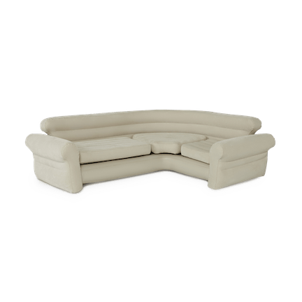 Inflatable Air Mattress Sectional Sofa, Beige