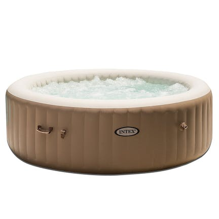 PureSpa 140-Jet 6-Person Inflatable Hot Tub Spa, Tan