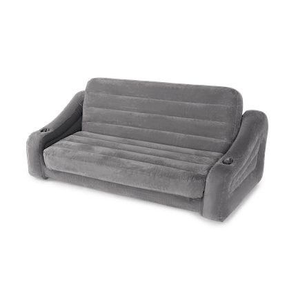 Inflatable Queen-Sized Mattress Pull-Out Sofa, Gray