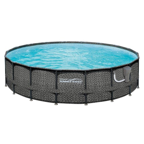 16-Foot x 48-Inch Round Above-Ground Pool Set with Pump