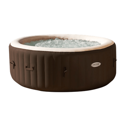 PureSpa 120-Jet 4-Person Inflatable Hot Tub, Brown
