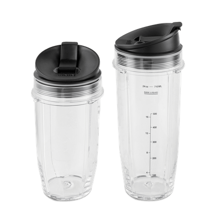 Nutri Ninja 18 and 24-Ounce Cups with Sip and Seal Lids