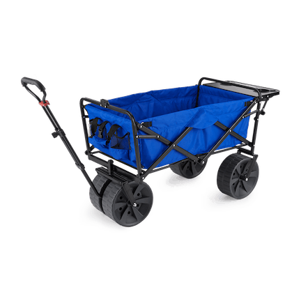 XL Collapsible Folding Steel Frame Camping Wagon, Blue