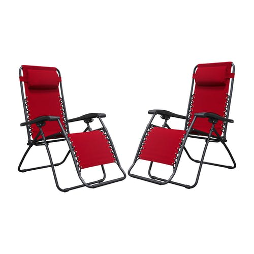 Tremendous Caravan Canopy Infinity Zero Gravity Patio Chairs Red 2 Gmtry Best Dining Table And Chair Ideas Images Gmtryco